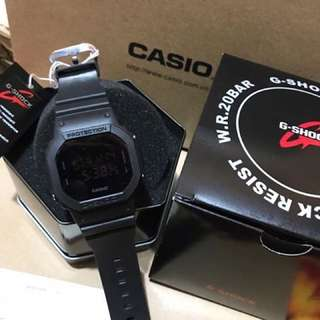 BLACK MATTE GSHOCK WATCH