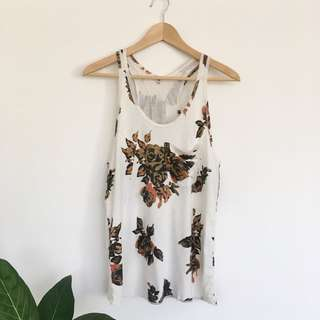 Wilfred racer back Floral tank top   small