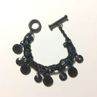 Marc Jacobs Black Double Chain Braclet