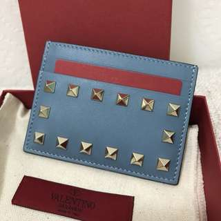 減價$1500 真品Valentino Rockstud Leather Card Holder 減價