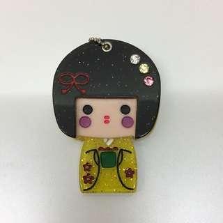 日本娃娃 隨身小鏡子