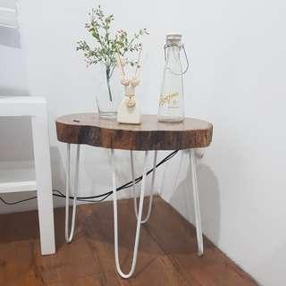 Meja kayu jati asli
