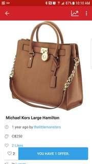 Michael kors Hamilton  (price drop!)