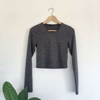Wilfred free cropped long sleeve top | medium