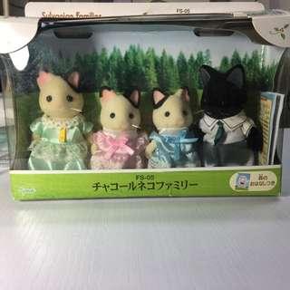 森林家族 Charcoal Cat Family