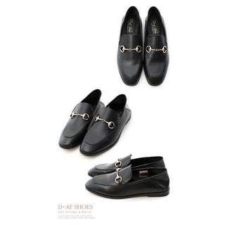 🚚 懶人鞋 韓國 拖鞋 D+AF 馬銜釦後踩式二穿紳士便鞋