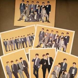 Wanna One 代言Postcard