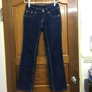 Levi's 925 復古直筒牛仔褲深藍色