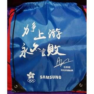 *香港運動員簽名 索繩背囊 (Each $40)