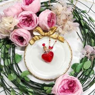 手製玻璃香水瓶頸鏈  Aroma Heart!