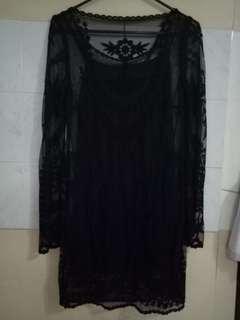 HM black lace dress
