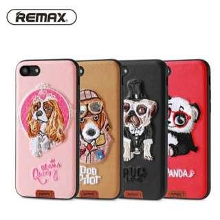*Remax iPhone 系列 刺繡 萌寵 手機殼
