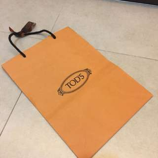 Original Tod's paper bag with ribbon