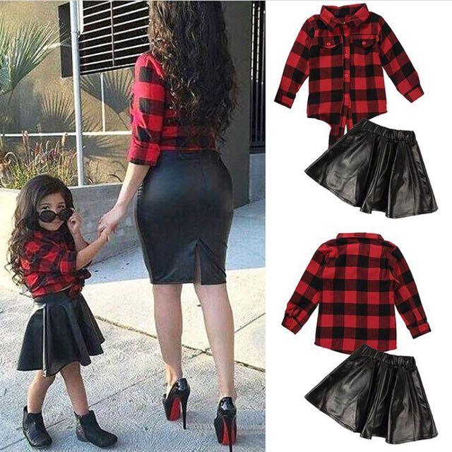 2pcs Polo Skirt Set