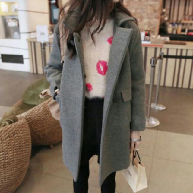 全新韓版毛呢外套#好想找到對的人#舊愛換新歡