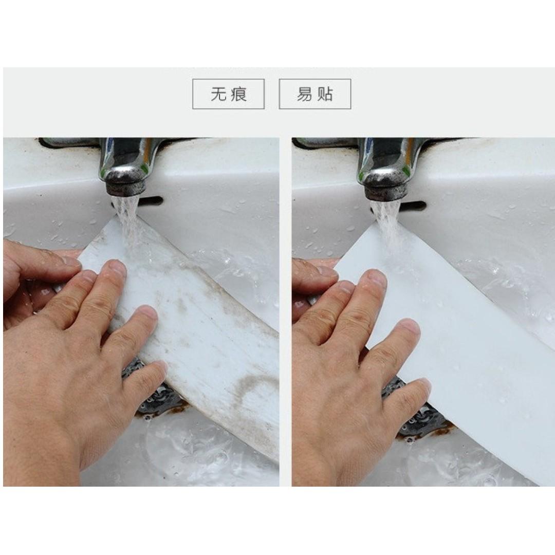 全新至尊新款/免釘免鑽化粧品置物架~魔力無痕貼强力不锈鋼色置物籃廚房浴室化妝間收纳籃
