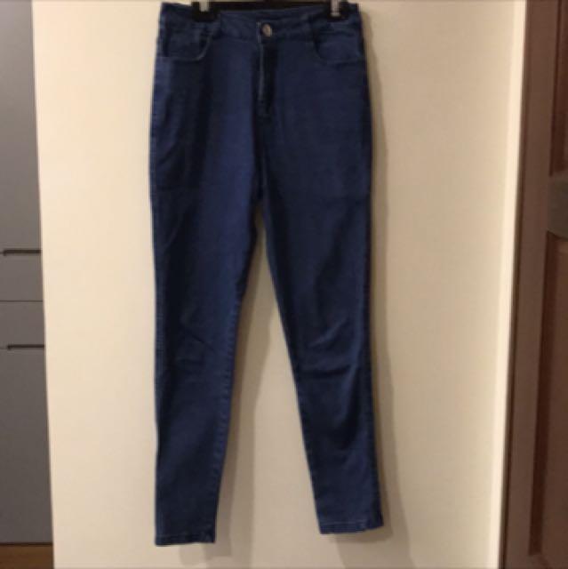 ✨全新✨高腰窄管牛仔褲