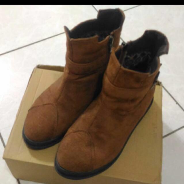 💖降價  咖啡色/褐色短靴 尺寸37(23.5)#冬季衣櫃出清