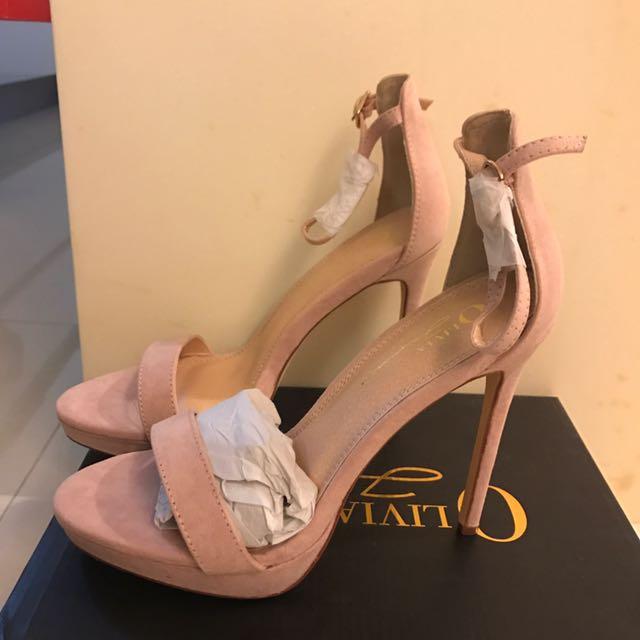 美國品牌 細跟性感高跟鞋 裸色