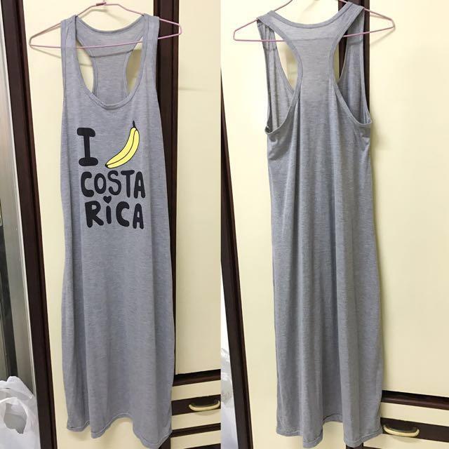 香蕉 灰色 長裙 連身裙 背心裙 洋裝 長洋   #有超取最好買