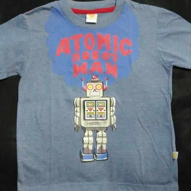 ❤ Kaos Anak Little M Original Atomic Robot Man