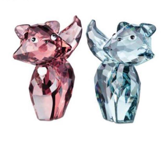 施華洛世奇 Swarovski 水晶貓夫婦