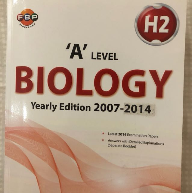 A Level Biology H2 exam papers 2007-2014 with answers