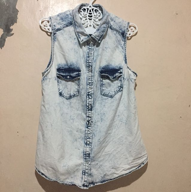 Acid Wash Sleeveless