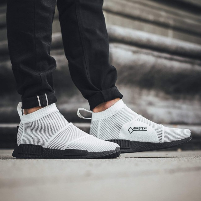 Adidas NMD CS1 City Sock PK Primeknit Gore-Tex - White and Black boost, Men's Fashion, Footwear on Carousell