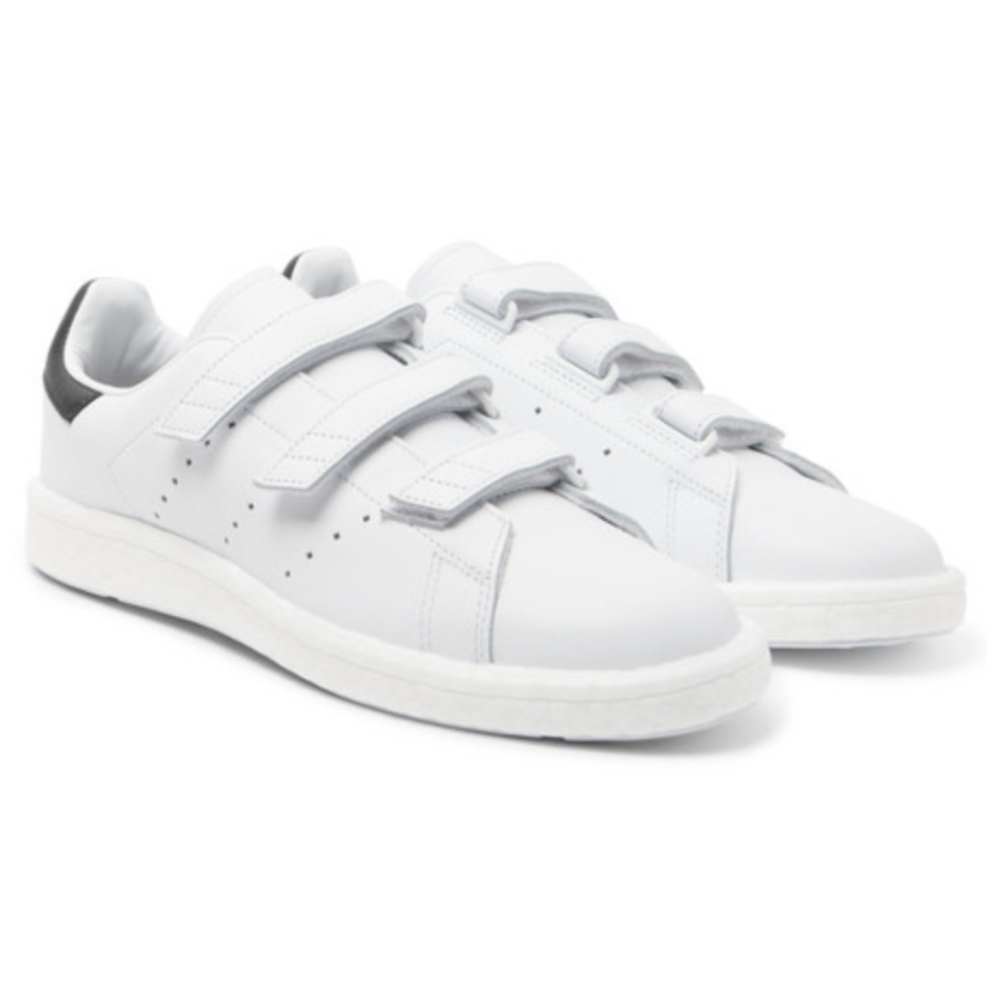 low priced f8413 290f5 ADIDAS ORIGINALS + White Mountaineering Stan Smith Leather Sneakers