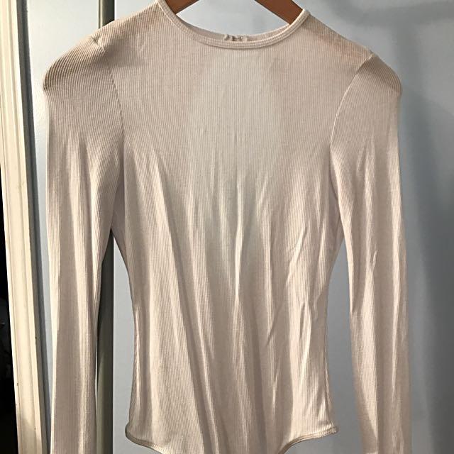 American Apparel Ribbed Long Sleeve Bodysuit