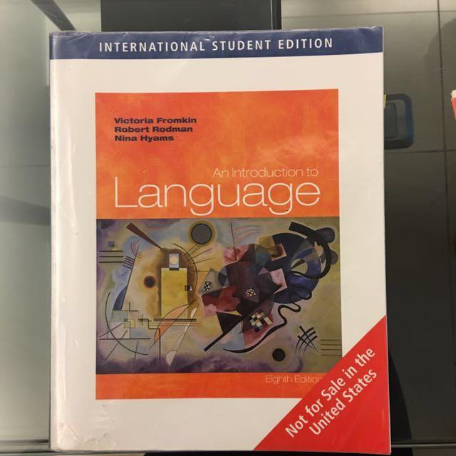 免費自取An Introduction to Language, 8th edition
