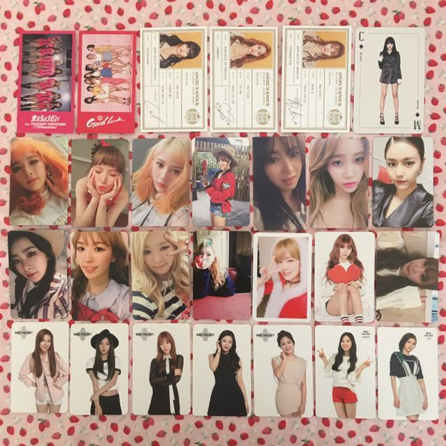 AOA Red Velvet TWICE Girls Generation Photocard Clearance!