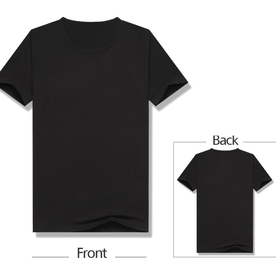 e5f69ddc63cdbc AustereSG Basic Black Plain T-shirt  7.90