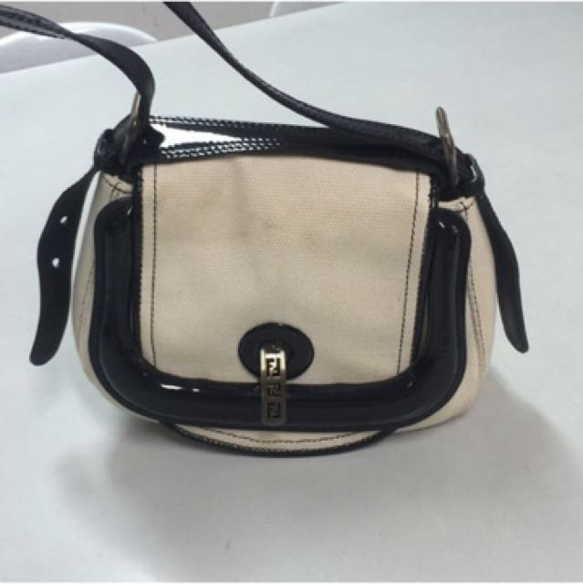 Authentic Fendi Canvass Hobo