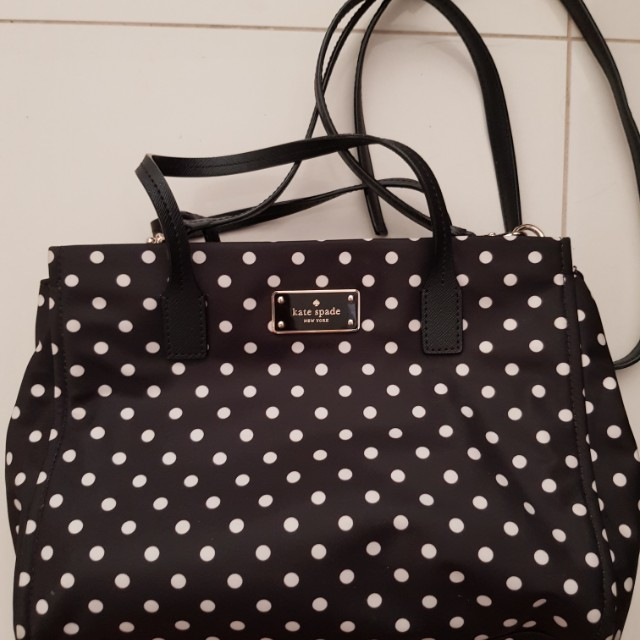 Authentic kate spade polka dot slinghandcarry bag luxury photo photo junglespirit Choice Image