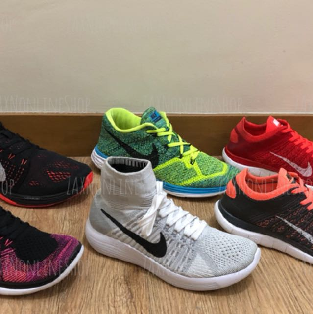 Authentic Nike Flyknit shoes for men and women
