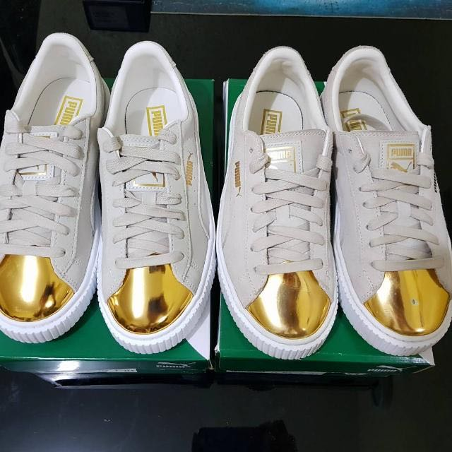 Authentic Puma Suede Gold Toe Creepers (By Rihanna)