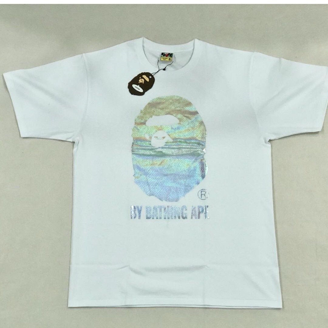 03e710c1 BAPE Hologram By Bathing Tee, Men's Fashion, Clothes on Carousell