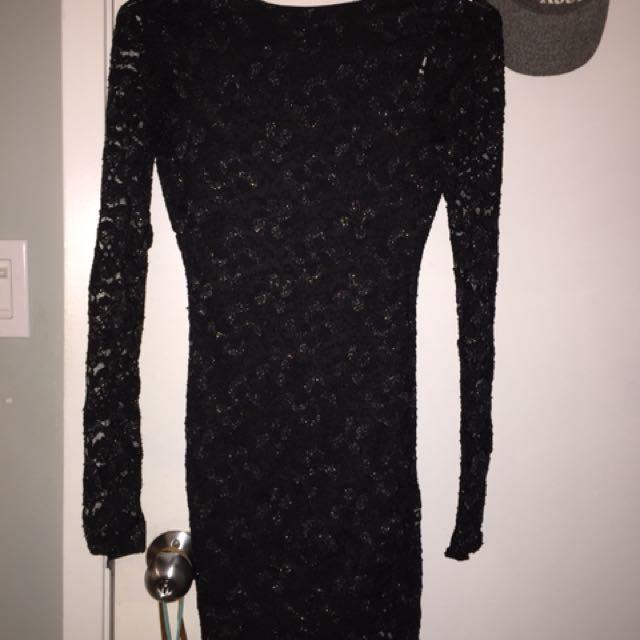 Black tight fit dress