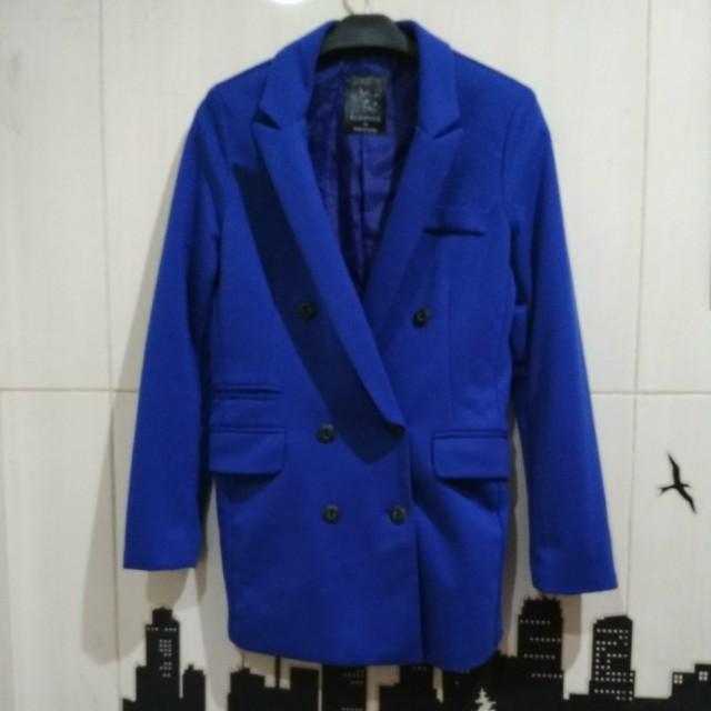 Blazer Coat Blue Electric