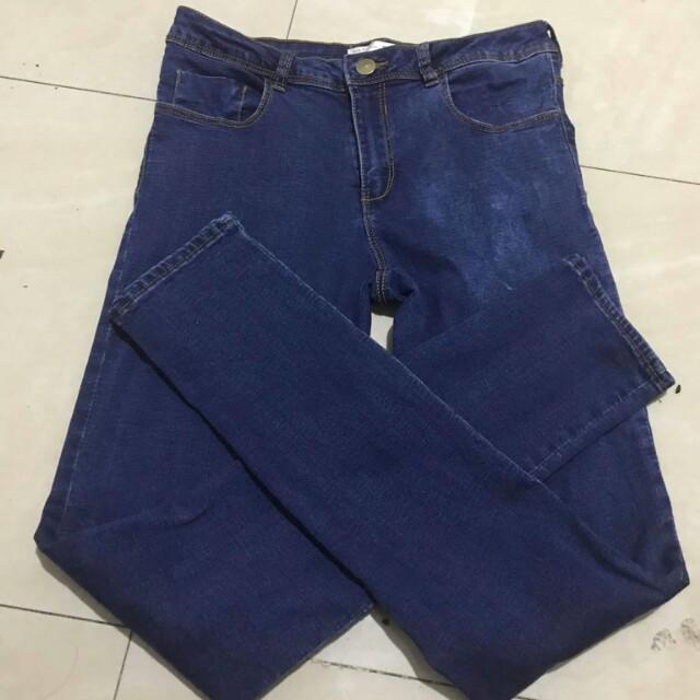 Blue high waist pants