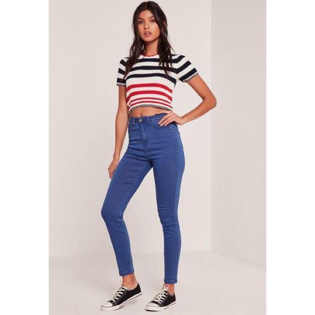 Blue Skinny High Waisted Jeans