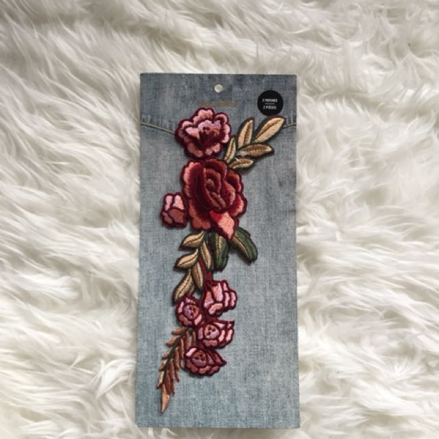 BNWT Intricate Floral Iron-On Patches