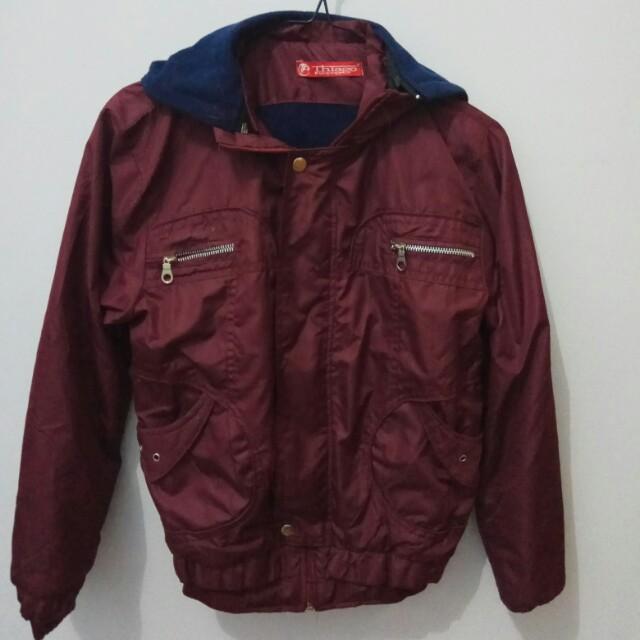bomber Jacket Maroon