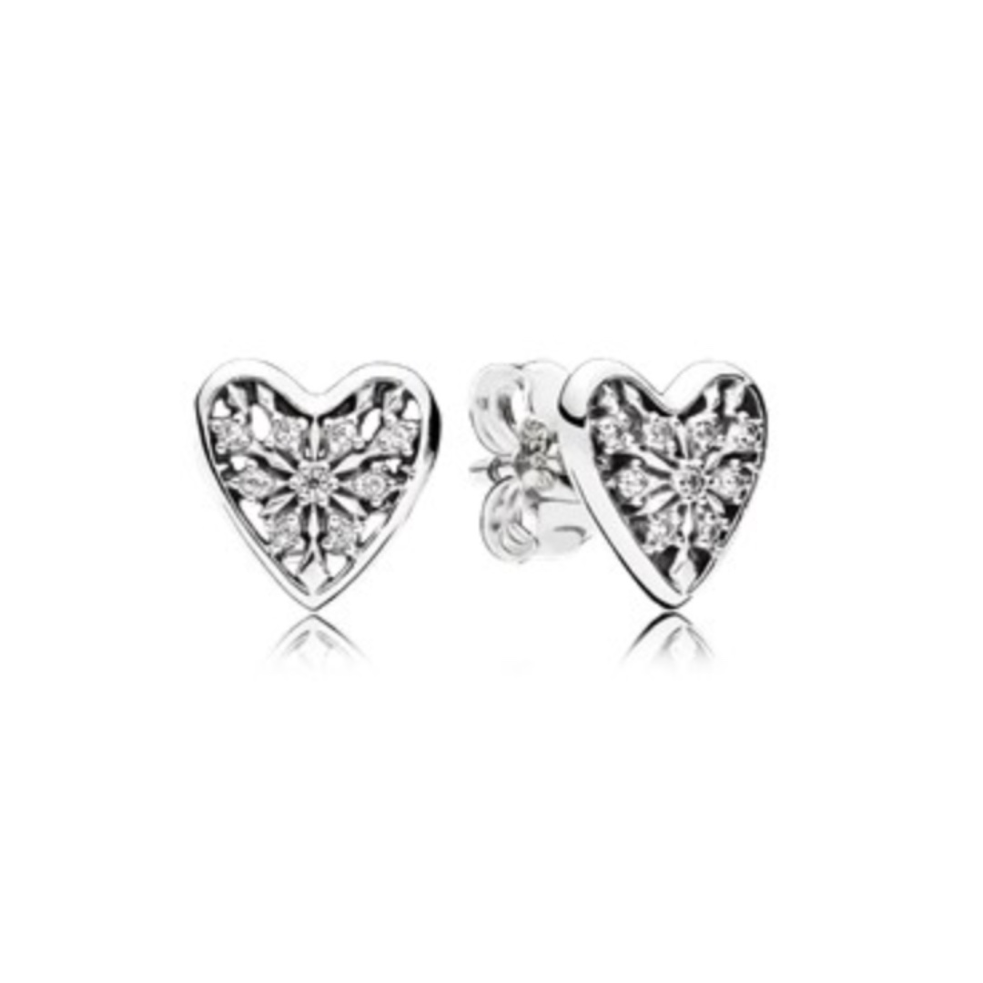 Brand new Pandora Hearts of Winter Earring Studs