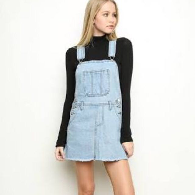 Brandy Melville Denim Skirt Overalls