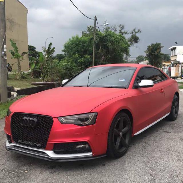 Used Audi A5 >> Car Wrap Red Matte Chrome + Silver Matte Chrome ( Audi A5 / Done ) , Aksesori Auto di Carousell