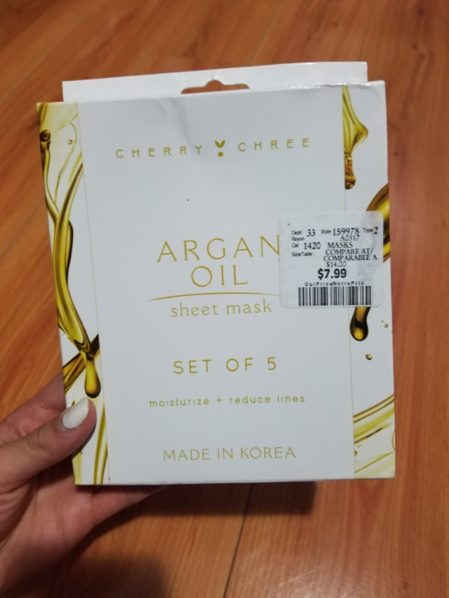 Cherry Chree Argan Oil Sheet Masks