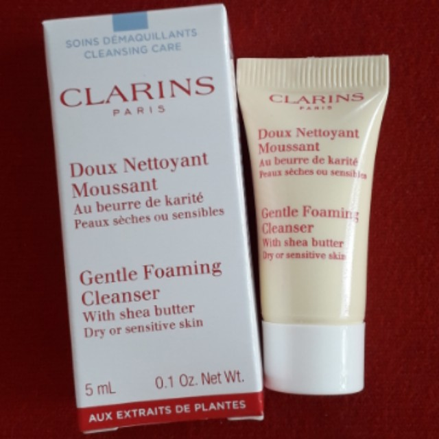 Clarins Gentle Foaming Cleanser 5ml(with shea butter)(dry or sensitive skin)